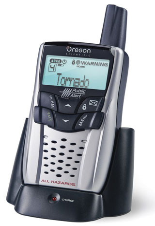 Picture of Recalled WR108 Oregon Scientific Weather Radio